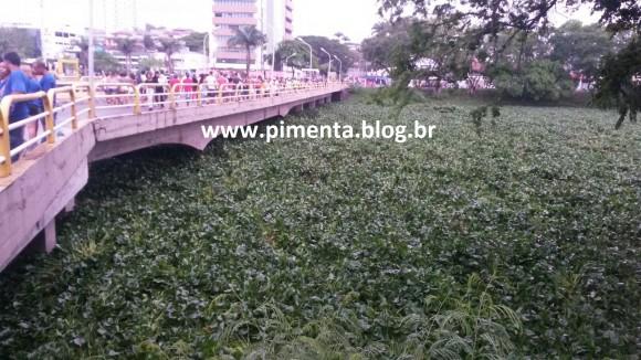 Baronesas ficam retidas na Ponte do Marabá, na região central de Itabuna (Foto Pimenta).