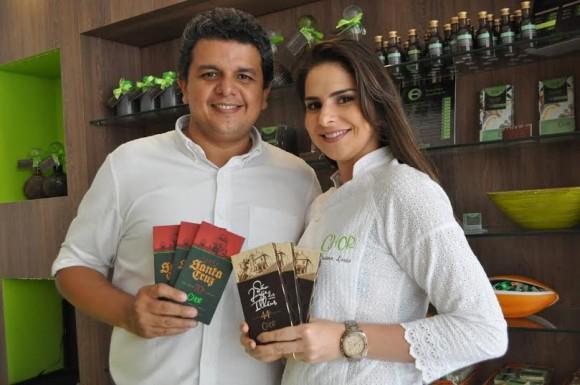 Marco e Luana Lessa, sócios da ChOr (Chocolate de Origem).