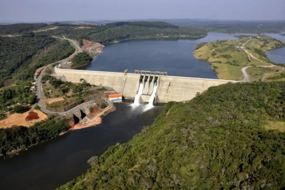Reservatórios de usinas hidrelétricas tem elevação de nível d´água (Foto Usina Hidrelétrica de Mauá).