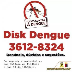 Além de receber denúncias, serviço também esclarece dúvidas e acolhe sugestões sobre o combate ao Aedes aegypti