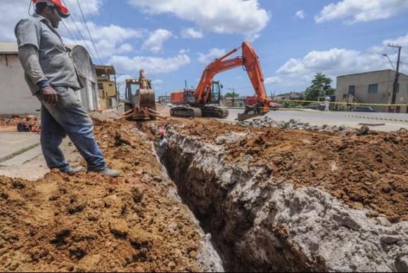 Obras do PAC estavam sendo executadas em seis bairros (Foto Divulgação).