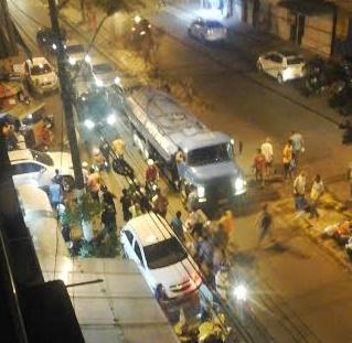 Movimentação foi grande na avenida, após tentativa de homicídio.