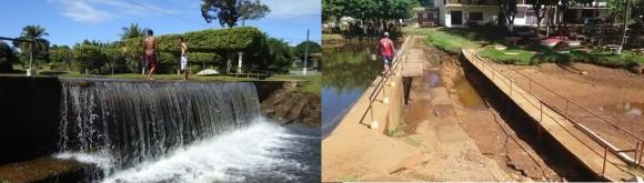 Represa de Serra Grande antes e depois: tristeza