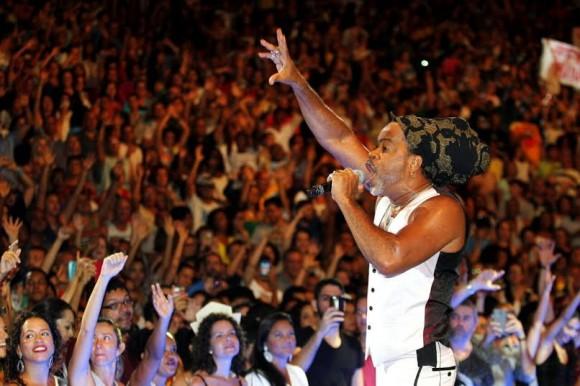 Brown foi uma das atrações musicais do Eu sou a Concha (Foto Mateus Pereira/GovBA).