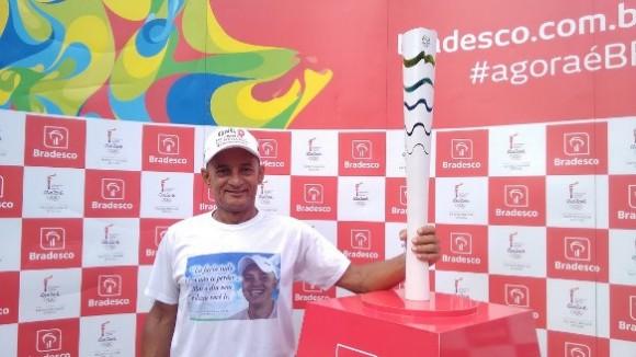 Campeão da vida, Enault Freitas será um dos condutores da tocha olímpica em Itabuna (foto Pimenta)
