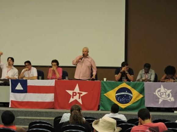 Reunião do diretório baiano do PT, ontem, em Salvador (Foto Divulgação).