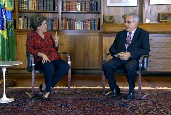 Dilma em entrevista a Luís Nassif, da TV Brasil, nesta semana (Foto Reprodução).
