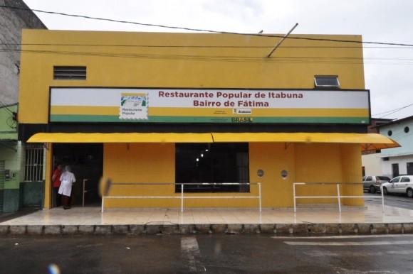 Fachada do Restaurante Popular do Fátima, em Itabuna (Foto Wilson Oliveira).