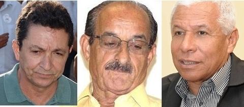 Geraldo, Fernando e Azevedo: barrados no debate da Difusora