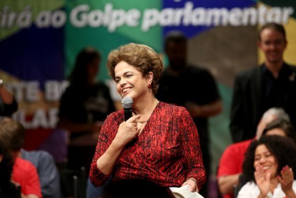 Dilma afirma que há um golpe em andamento (Foto Wilson Cruz/Agência Brasil).