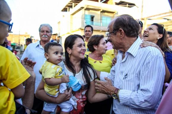 Fernando Gomes durante a campanha em que obteve 32,4% dos votos.