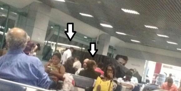 Augusto Castro e Fernando retornaram no mesmo voo (Reprodução Pimenta).