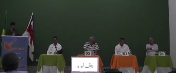 Primeiro debate realizado em agosto (Reprodução).