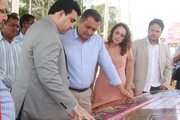 Saulo Farias, Rui, Diane e Lucas Lopes durante visita em agosto (Foto Daniel Ribeiro).