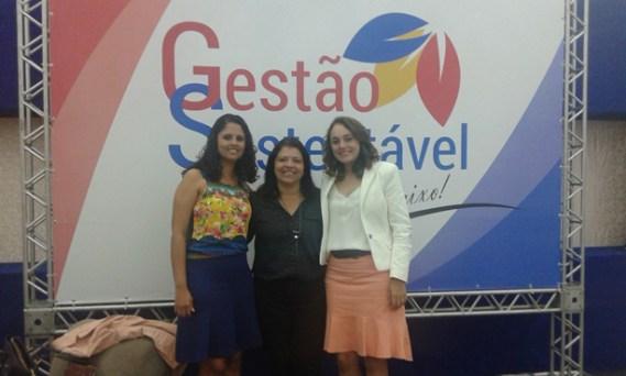 Gavazza, Claudiane Figueiredo, do Sebrae, e a prefeita Diane (Foto Divulgação).