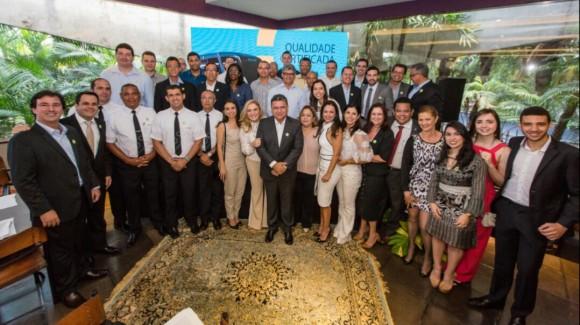 Dirigentes e colaboradores do Grupo Brasileiro no lançamento da Cidade Sol.