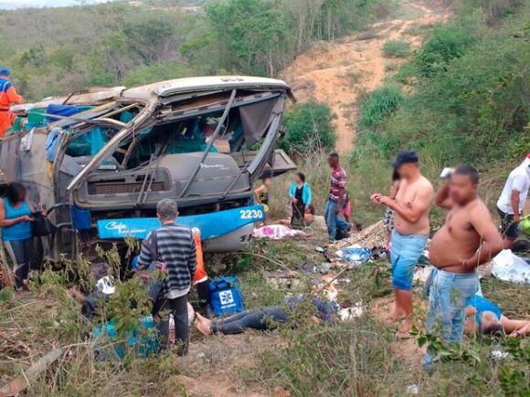 Ônibus seguia de Pernambuco para São Paulo, segundo PRF (Foto Blog do Léo Santos).