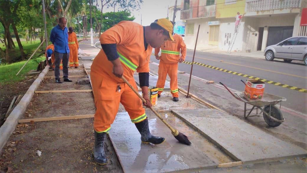ITABUNA: OBRAS REVITALIZAM CALÇADAS DA BEIRA-RIO
