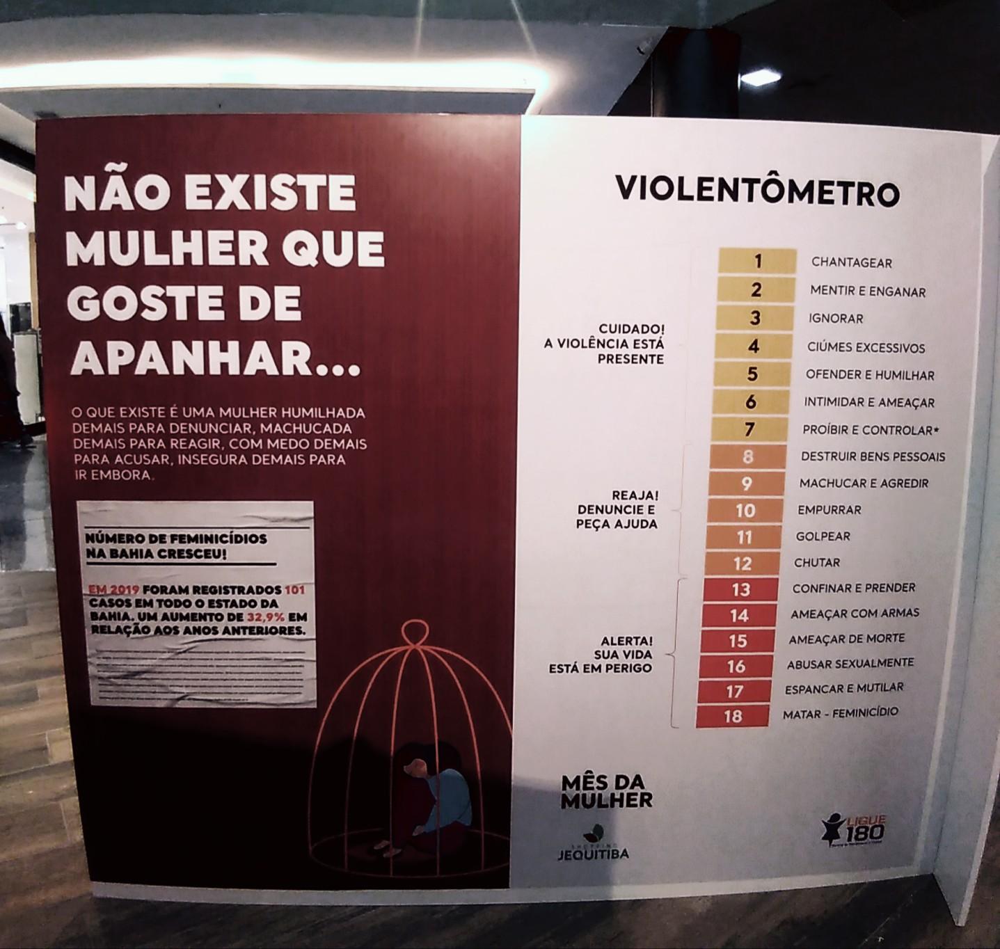 """SHOPPING PROMOVE """"TOCA FONE"""" E EXPOSIÇÃO SOBRE VIOLÊNCIA CONTRA A MULHER"""