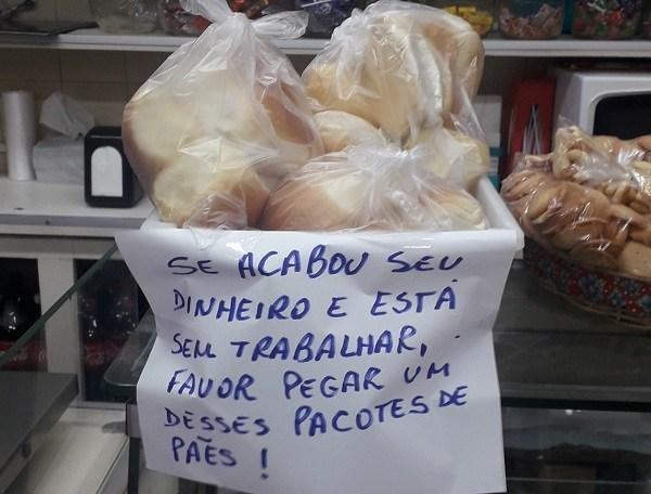 PADARIA DOA PÃES A QUEM PERDEU RENDA DURANTE ISOLAMENTO SOCIAL
