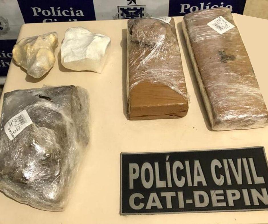CAMAMU: HOMEM É PRESO COM 3 KG DE DROGAS