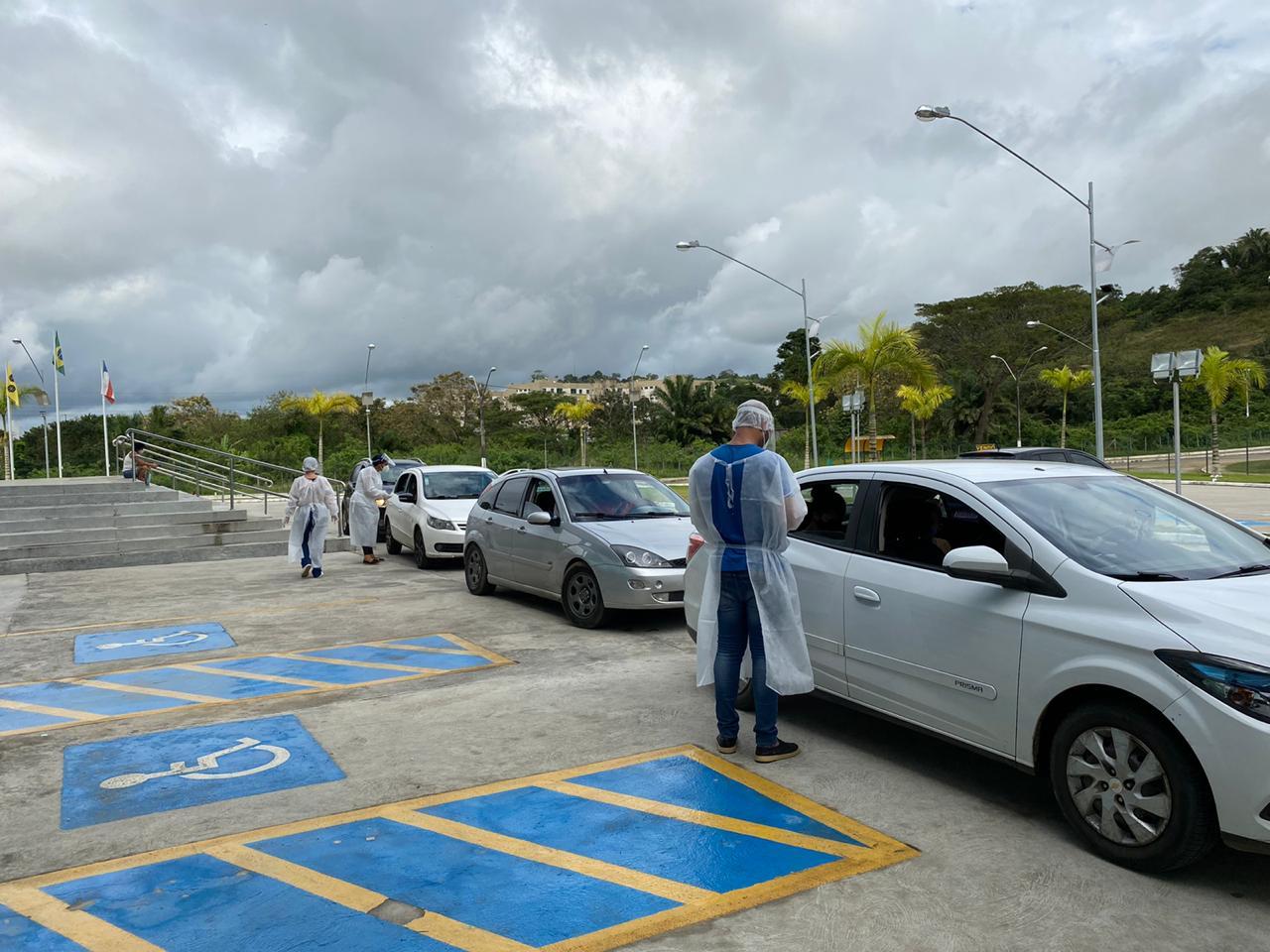 ITABUNA: MUNICÍPIO FAZ DRIVE THRU DE TESTE PCR PARA COVID-19