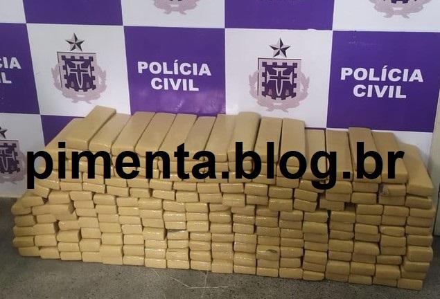 OPERAÇÃO POLICIAL APREENDE MAIS DE 200 QUILOS DE MACONHA EM ITABUNA