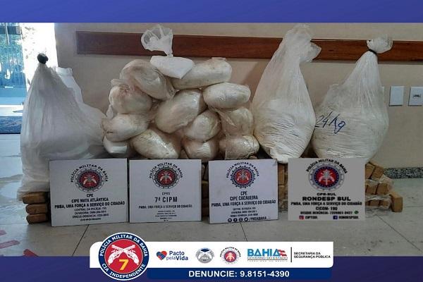POLÍCIA APREENDE 180 QUILOS DE DROGAS EM ASSENTAMENTO NO SUL DA BAHIA
